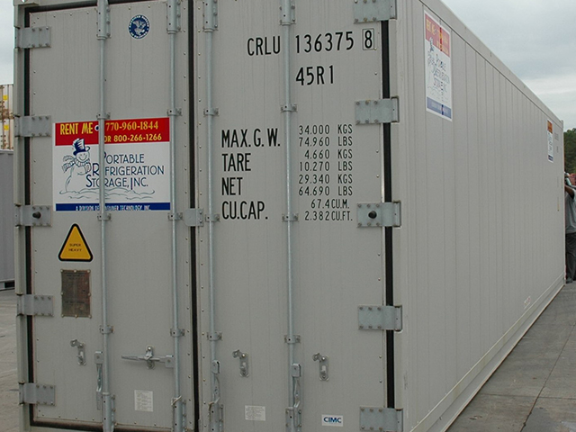Refrigerated Containers For Rent | Electric Powered